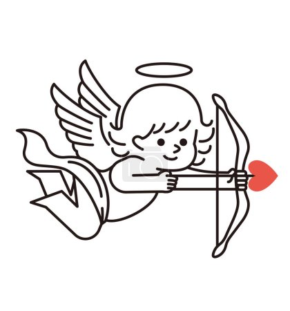 Cupid with a bow and an arrow.