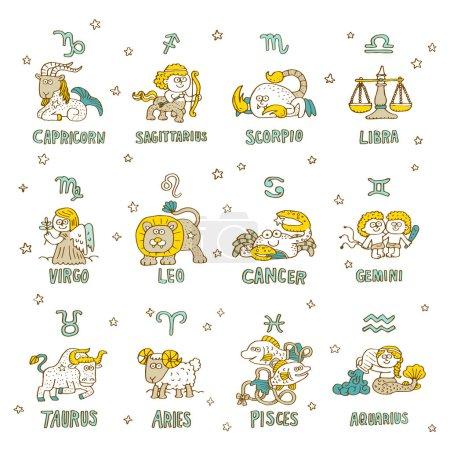 different zodiac symbols