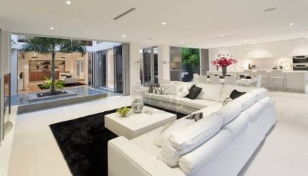 Photo for Luxurious home interior in modern mansion - Royalty Free Image