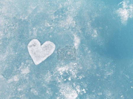 Frozen hearth on iced surface