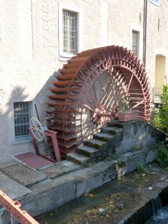 An old abandoned mill in the alleys of the small village of Chiari