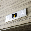 Above elevator door digital display with number se...