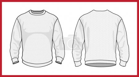 Collection of jersey sweater pullover. Casual clothes. Vector illustration