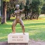 Постер, плакат: Bruce Lee statue