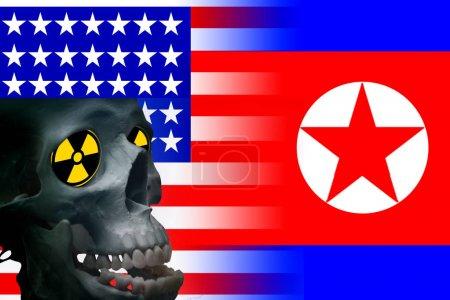 Usa vs north korea graphic concept