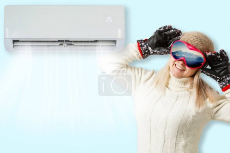 Photo for Winter in the summer with the air conditioning - Royalty Free Image