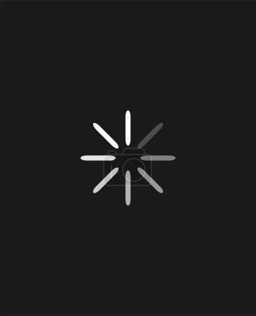 Circle loading process symbol....