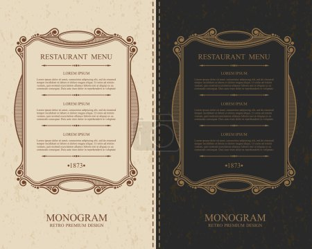 Elegant calligraphic menu of  restaurant