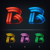 Modern letters B set Vector illustration