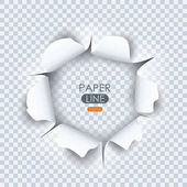 Paper sheet with torn edges paper and ragged hole for your design Vector illustration
