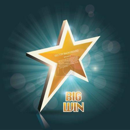 Big Win gold sign for online casino, poker, roulette, slot machi