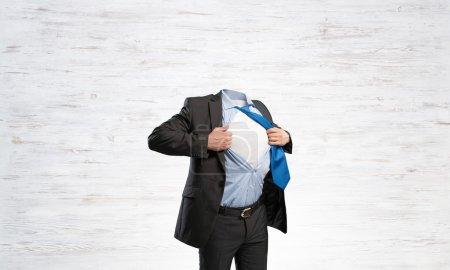 Headless super businessman