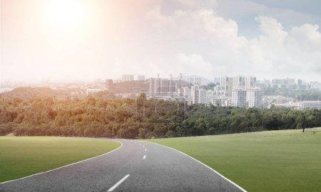 Road to big city concept