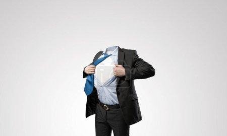 Headless businessman concept