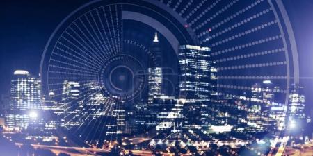 virtual interface against night city
