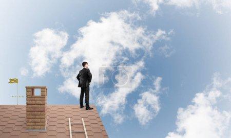 Mister boss on brick roof