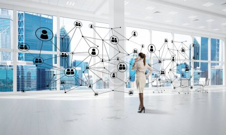 Networking and social communication concept