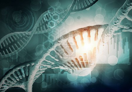 Photo for Background image with DNA molecule research concept. DNA molecules background - Royalty Free Image