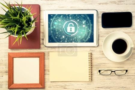 Web security and technology concept