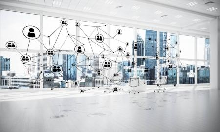 social communication concept in office interior