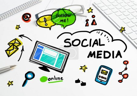 Social media and network concept