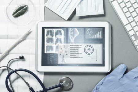 White tablet pc and doctor tools