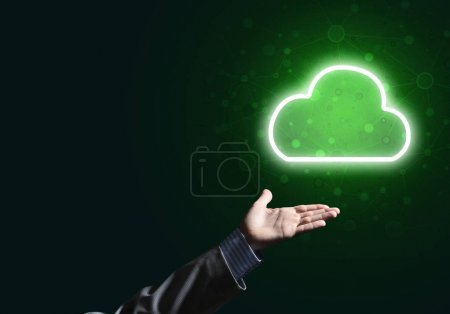 luminous cloud computer concept