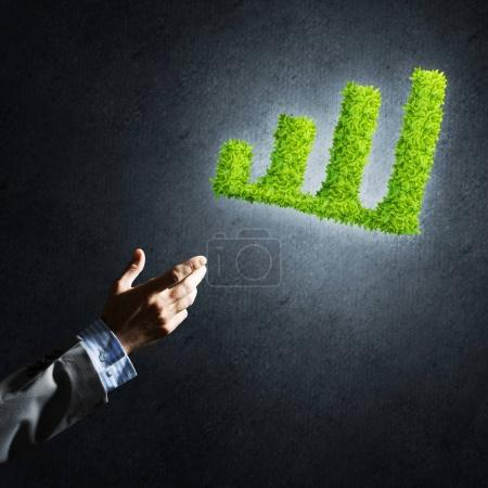 green growing graph