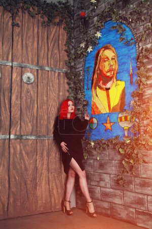 Beautiful Photomodel and The Jesus