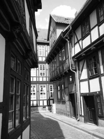 Empty narrow street
