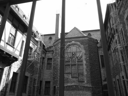 Courtyard view of old building