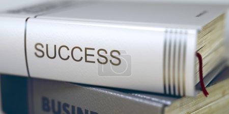 Success - Business Book Title. 3D.