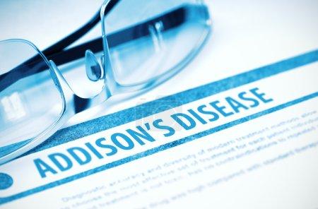 Addisons Disease. Medicine. 3D Illustration.