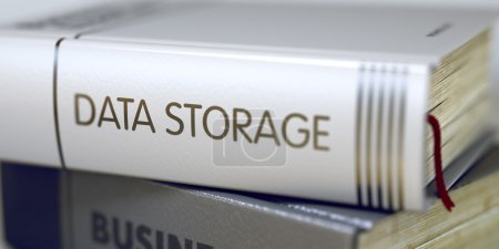 Data Storage. Book Title on the Spine. 3D.