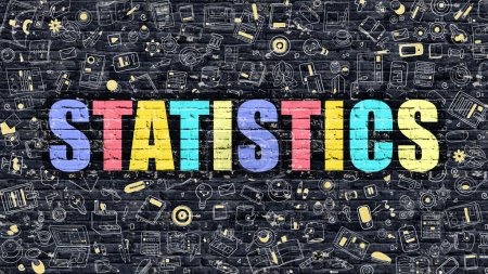 Statistics in Multicolor. Doodle Design.