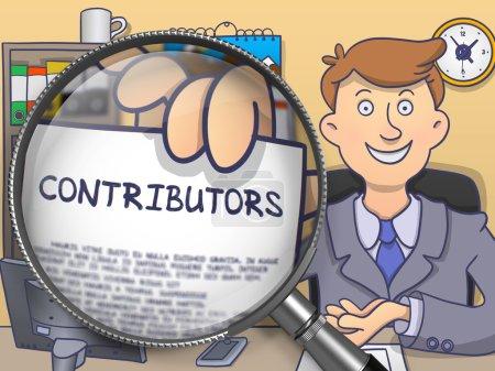Contributors through Magnifier. Doodle Design.