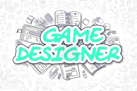 Game Designer - Doodle Green Inscription. Business Concept.