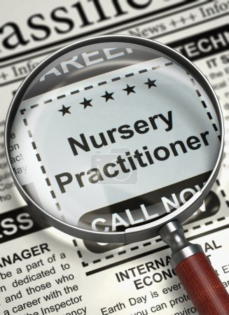 Nursery Practitioner Wanted. 3D.
