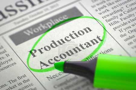 Were Hiring Production Accountant. 3D.