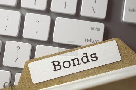 File Card Bonds. 3D.