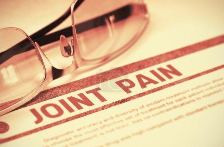 Diagnosis - Joint Pain. Medicine Concept. 3D Illustration.
