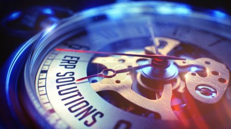ERP Solutions - Inscription on Watch. 3D.