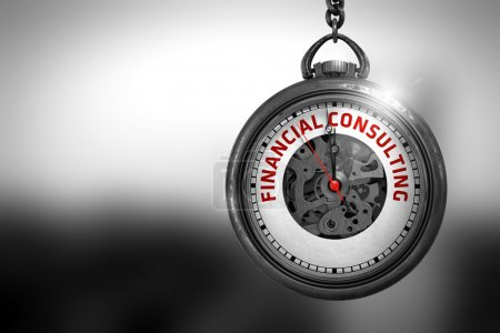 Financial Consulting on Watch Face. 3D Illustration.