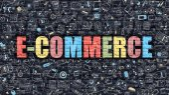 E-Commerce v vícebarevná. Doodle Design