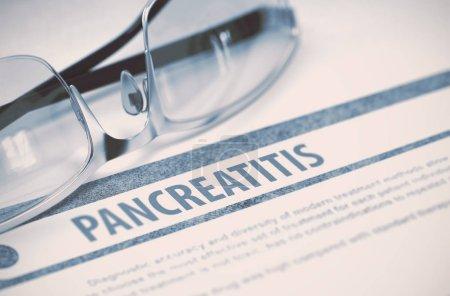 Diagnosis - Pancreatitis. Medical Concept on Blue ...
