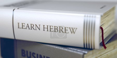Book Title of Learn Hebrew. 3D.