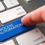 Computer User Presses Process Automation Blue Keyp...