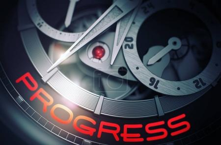 Progress on the Vintage Wrist Watch Mechanism. 3D.