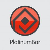 Platinumbar Digital Currency - Vector Coin Image