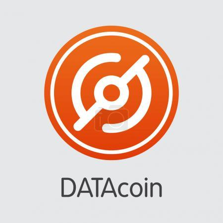 Datacoin Cryptocurrency Coin. Vector Symbol of DATA.